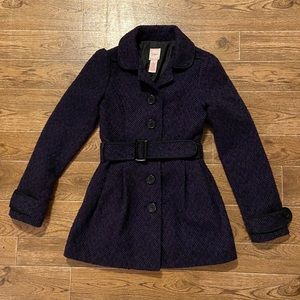 Candie's | purple and black dress coat